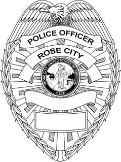 The Badge of the Rose City Police Department.